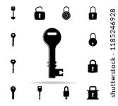 key icon. lock and keys icons... | Shutterstock . vector #1185246928