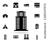 office building  icon. house... | Shutterstock . vector #1185247072