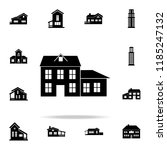 house with an extension  icon.... | Shutterstock . vector #1185247132
