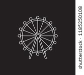 ferris wheel icon. outline... | Shutterstock .eps vector #1185250108
