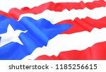3d render  realistic wavy flag... | Shutterstock . vector #1185256615