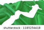 3d render  realistic wavy flag... | Shutterstock . vector #1185256618