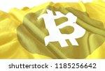 3d render  realistic wavy flag... | Shutterstock . vector #1185256642