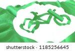3d render  realistic wavy flag... | Shutterstock . vector #1185256645