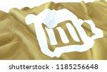 3d render  realistic wavy flag... | Shutterstock . vector #1185256648