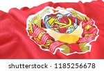 3d render  realistic wavy flag... | Shutterstock . vector #1185256678