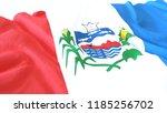 3d render  realistic wavy flag... | Shutterstock . vector #1185256702