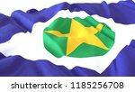3d render  realistic wavy flag... | Shutterstock . vector #1185256708