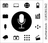 microphone in a circle icon....