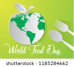 world food day food day... | Shutterstock .eps vector #1185284662
