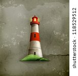 lighthouse  old style vector | Shutterstock .eps vector #118529512