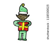 cartoon christmas elf with... | Shutterstock .eps vector #118530025