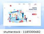 data analysis concept with... | Shutterstock . vector #1185300682