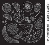 vector illustration of nutrient ... | Shutterstock .eps vector #1185311068