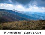 beautiful mountain view before... | Shutterstock . vector #1185317305