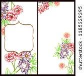 vintage delicate greeting... | Shutterstock .eps vector #1185329395