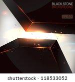 black stone background   vector ... | Shutterstock .eps vector #118533052