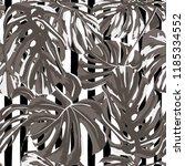tropical print. jungle seamless ... | Shutterstock .eps vector #1185334552