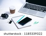 business tools on a wooden...   Shutterstock . vector #1185339322