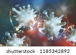 microbial colony. virus in... | Shutterstock . vector #1185342892