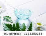 spa setting with cosmetic cream ... | Shutterstock . vector #1185350155