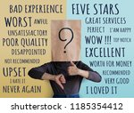 customer experience concept.... | Shutterstock . vector #1185354412