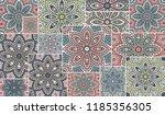 vector patchwork quilt pattern. ... | Shutterstock .eps vector #1185356305