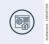 homepage vector icon | Shutterstock .eps vector #1185357205