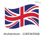 waving great britain flags on... | Shutterstock .eps vector #1185365068