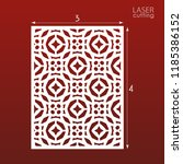 laser cut ornamental panel... | Shutterstock .eps vector #1185386152