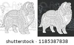 dog. coloring page. coloring... | Shutterstock .eps vector #1185387838