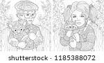 coloring pages. coloring book... | Shutterstock .eps vector #1185388072