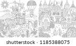 coloring pages. coloring book... | Shutterstock .eps vector #1185388075
