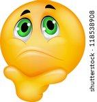thinking emoticon | Shutterstock .eps vector #118538908