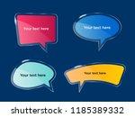 vector  shining bubbles set ... | Shutterstock .eps vector #1185389332