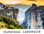 monastery of the holy trinity... | Shutterstock . vector #1185393178