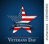 veterans day of usa with star... | Shutterstock .eps vector #1185400402