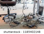 concept of clutter in office.... | Shutterstock . vector #1185402148