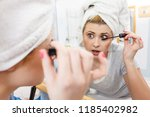 visage and make up concept....   Shutterstock . vector #1185402982