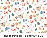 christmas design elements for... | Shutterstock . vector #1185404668