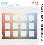 grid polygonal symbol ... | Shutterstock .eps vector #1185413998