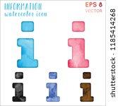 information watercolor icon set.... | Shutterstock .eps vector #1185414268
