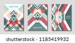 set of cover page layouts ... | Shutterstock .eps vector #1185419932