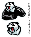 panda in sport mascot angry set | Shutterstock .eps vector #1185426172