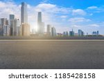 road pavement and guangzhou... | Shutterstock . vector #1185428158