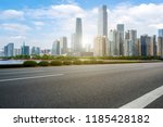 road pavement and guangzhou... | Shutterstock . vector #1185428182
