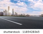 road pavement and guangzhou... | Shutterstock . vector #1185428365