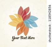 flower logo with vintage... | Shutterstock .eps vector #118542856