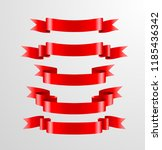 pack of red ribbons | Shutterstock .eps vector #1185436342