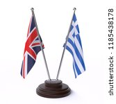 united kingdom and greece  two ... | Shutterstock . vector #1185438178